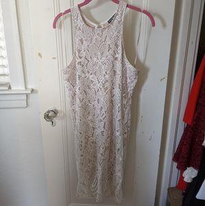 Express High Neck Lace dress